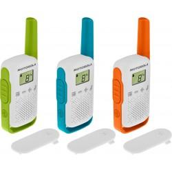 Motorola - TALKABOUT T42 two-way radios 16 canales Azul Verde Naranja Blanco