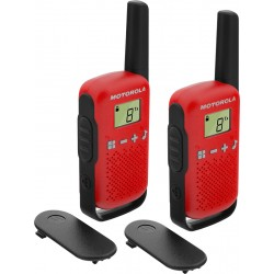 Motorola - TALKABOUT T42 two-way radios 16 canales Negro Rojo