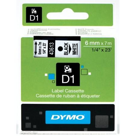 DYMO - D1 - Etiquetas estndar - Negro sobre blanco - 6mm x 7m