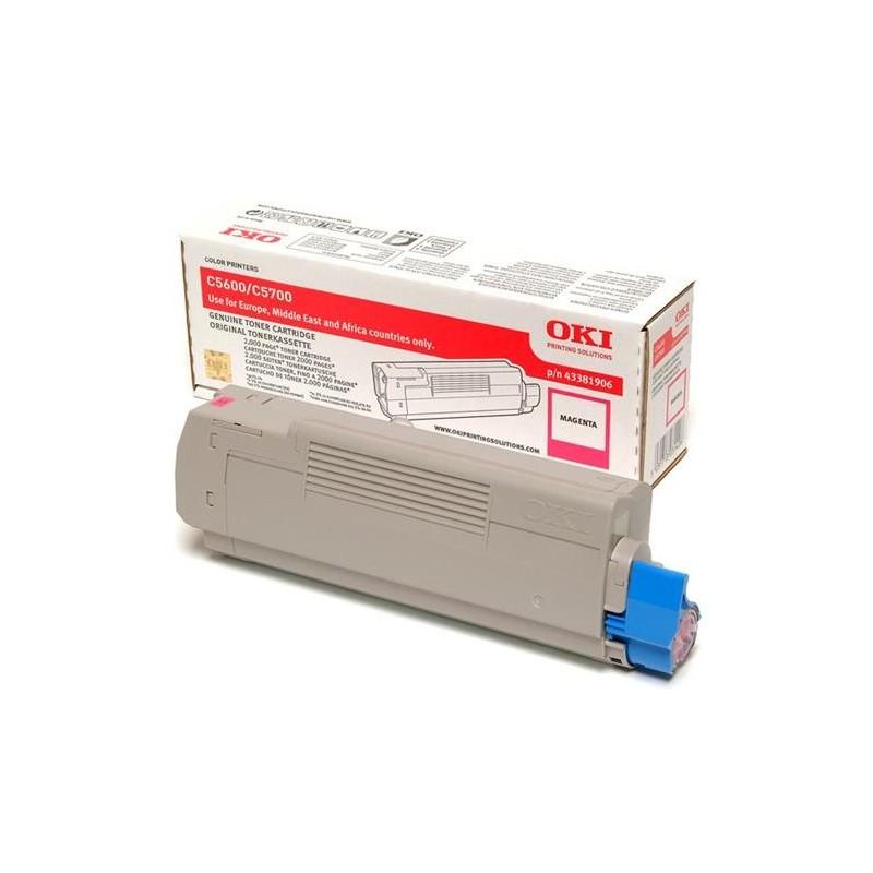 OKI - 43381906 cartucho de tner Original Magenta 1 piezas