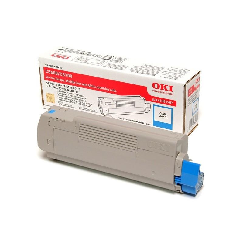 OKI - 43381907 cartucho de tner Original Cian 1 piezas