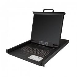 StarTechcom - Consola para Armario Rack con KVM de 8 Puertos VGA y Pantalla LCD de 19 Pulgadas - 1U