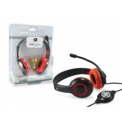 Conceptronic - CCHATSTARU2R auricular y casco Auriculares Diadema Rojo