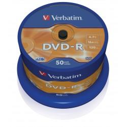 Verbatim - DVD-R Matt Silver 47 GB 50 piezas