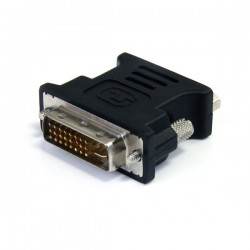 StarTechcom - Adaptador Conversor DVI-I a VGA - DVI-I Macho - HD15 Hembra - Negro