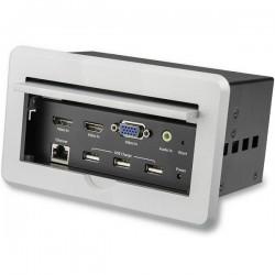 StarTechcom - Caja de Conectividad de Audio y Vdeo para Mesas de Conferencia - 4K