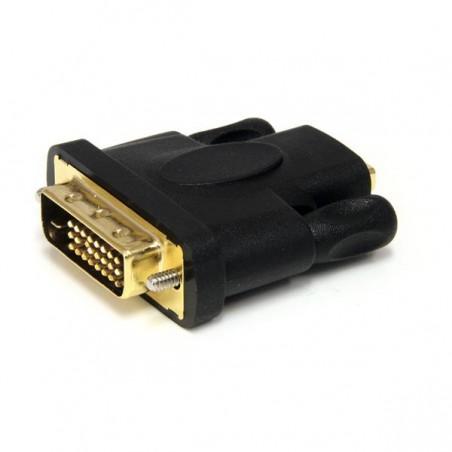 StarTechcom - Adaptador HDMI a DVI - DVI-D Macho - HDMI Hembra - Conversor - Negro