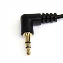 StarTechcom - Cable de Audio Estreo 35mm Delgado de ngulo Recto de 1 pie - M/M