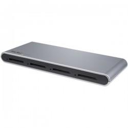 StarTechcom - Lector Grabador USB-C de Tarjetas de Memoria Flash SD con 4 Ranuras - USB Tipo C - USB 31 - SD 40 - UHS-II