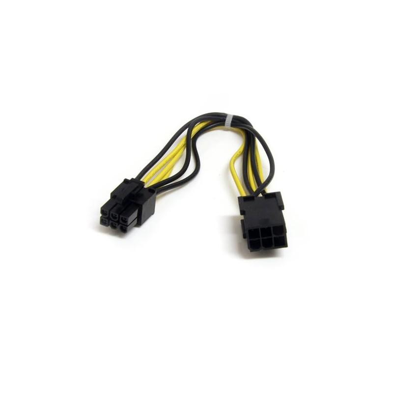 StarTechcom - Cable de Extensin de Alimentacin PCI Express de 6 pines - 8 pulgadas
