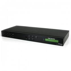StarTechcom - Conmutador Matrix HDMI de 4 Puertos - 4x4 con Audio y RS232 - Switch Selector