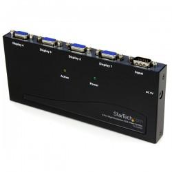 StarTechcom - Multiplicador Divisor de Vdeo VGA de 4 puertos 350MHz -Splitter 4 Salidas - Duplicador