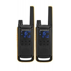 Motorola - T82 Extreme Twin Pack two-way radios 16 canales Negro Naranja