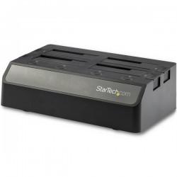 StarTechcom - Docking Station USB 31 10Gbps de 4 Bahas SATA para Discos Duros y SSDs de 25 o 35 Pulgadas - Base USB-C de 4