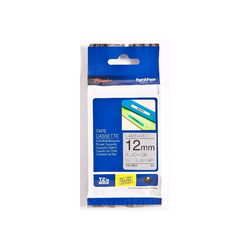 Brother - TZe-M931 cinta para impresora de etiquetas Negro sobre plata