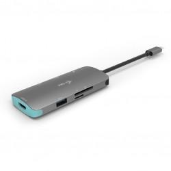 i-tec - Metal USB-C Nano Dock 4K HDMI  Power Delivery 100 W