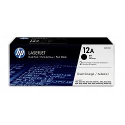 HP - 12A 2 piezas Original Negro