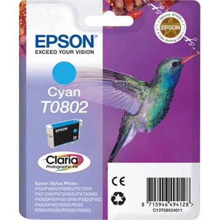 Epson - Hummingbird Cartucho T0802 cian
