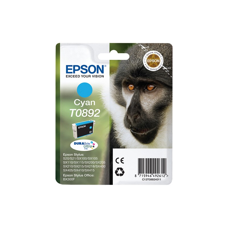 Epson - Monkey Cartucho T0892 cian
