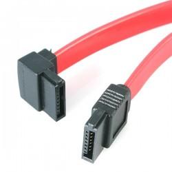 StarTechcom - Cable de 45cm de Datos SATA en ngulo Recto a la Izquierda Acodado 7 Pines - 2x Serial ATA Macho