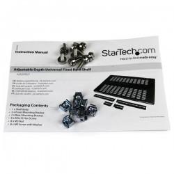 StarTechcom - Estante Bandeja Fijo para Gabinete Rack de Servidores con Profundidad Ajustable