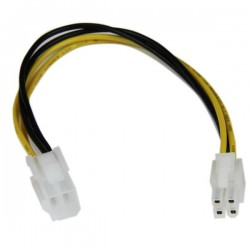 StarTechcom - Cable 20cm Extensin Alargador Alimentacin Corriente Placa Base ATX12V 4 Pines P4 - Macho a Hembra