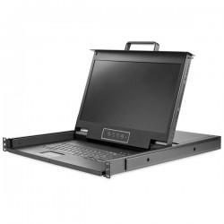 StarTechcom - Consola para Armario Rack con KVM VGA y Pantalla de 173 Pulgadas 1080p HD - 1U