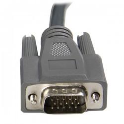 StarTechcom - Cable KVM Ultra Thin Delgado de 3m VGA USB HD15 2-en-1 para uso en Conmutador Switch KVM