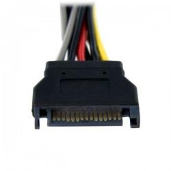 StarTechcom - Cable Adaptador Bifurcador Divisor Splitter de Alimentacin SATA de 015m - 2x Hembra