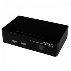StarTechcom - Conmutador Switch Profesional KVM 2 Puertos Vdeo DisplayPort - USB con Audio - 2560x1600