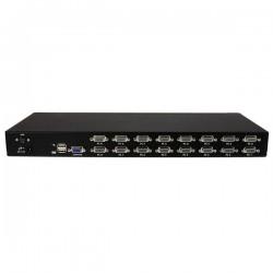 StarTechcom - Conmutador Switch KVM 1U OSD y Cables 16 puertos USB A Vdeo VGA HD15