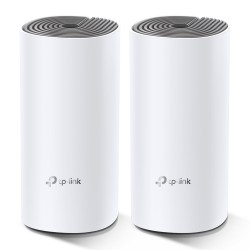 TP-LINK - Deco E4 2-pack Doble banda 24 GHz / 5 GHz Wi-Fi 5 80211ac Blanco Gris Interno