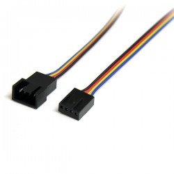 StarTechcom - Cable Extensor 03m PWM 4 Pines Alimentacin Ventilador Fan Placa Base Macho a Hembra