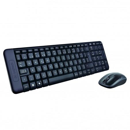 Logitech - MK220 teclado RF inalmbrico Espaol Negro