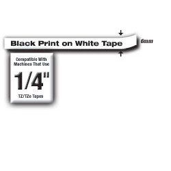 Brother - TZe211 cinta para impresora de etiquetas Negro sobre blanco TZe