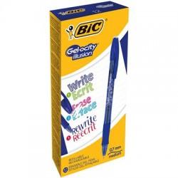 BIC - Gel-ocity illusion Retractable gel pen Azul 12 piezas