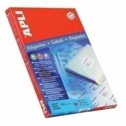 APLI - Labels 485 x 254mm etiqueta autoadhesiva Blanco 4400 piezas