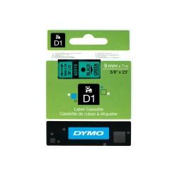 DYMO - D1 - Etiquetas estndar - Negro sobre verde - 9mm x 7m