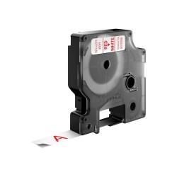 DYMO - D1 - Etiquetas estndar - Rojo sobre blanco - 12mm x 7m