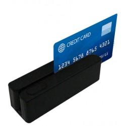 Posiberica - LECTOR TARJETA BM 3 PISTAS USB NEGRO
