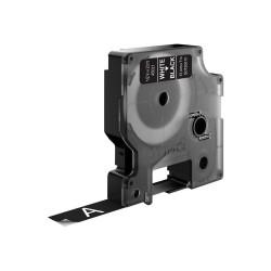 DYMO - D1 - Etiquetas estndar - Blanco sobre negro - 12mm x 7m