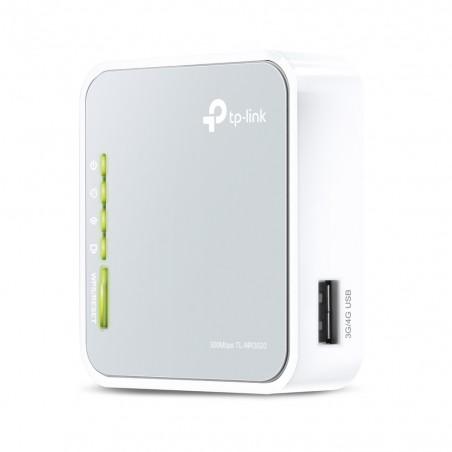 TP-LINK - TL-MR3020 router inalmbrico Ethernet rpido Banda nica 24 GHz 3G 4G Gris Blanco