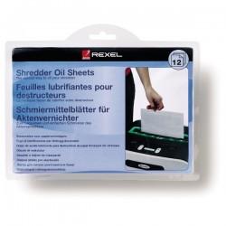Rexel - Lminas lubricantes para destructora 12