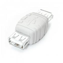 StarTechcom - Adaptador Conversor Cambiador de Gnero Gender Changer USB A - Hembra a Hembra - Blanco