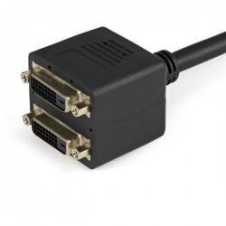 StarTechcom - Cable Duplicador Divisor de Vdeo DVI-D de 2 Puertos Salidas Compacto - Bifurcador