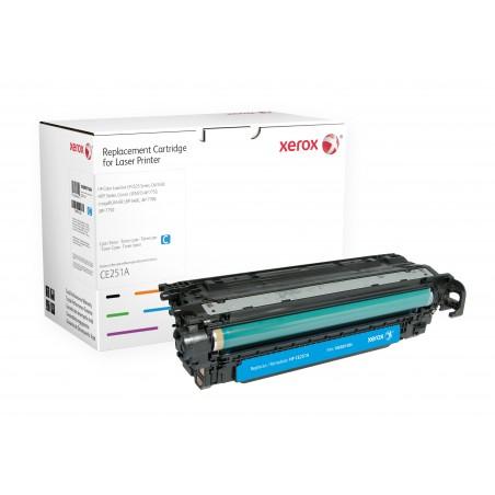 Xerox - Cartucho de tner cian Equivalente a HP CE251A Compatible con HP Colour LaserJet CM3530 MFP Colour LaserJet CP3525