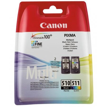 Canon - PG-510/CL-511 Multi Pack 2 piezas Original Rendimiento estndar Negro Cian Magenta Amarillo