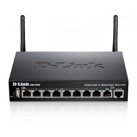 D-Link - DSR-250N router inalmbrico Banda nica 24 GHz Gigabit Ethernet Negro