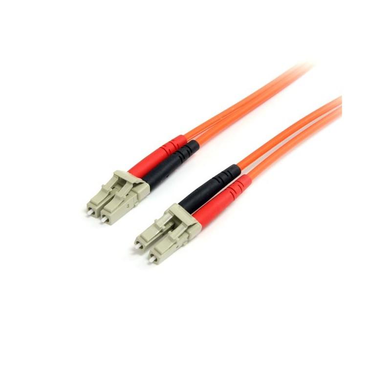 StarTechcom - Cable Patch de Fibra Duplex Multimodo 625/125 2m LC - LC