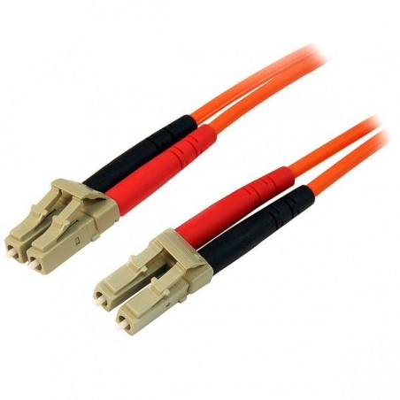 StarTechcom - Cable Patch de Fibra Duplex Multimodo 50/125 30m LC - LC